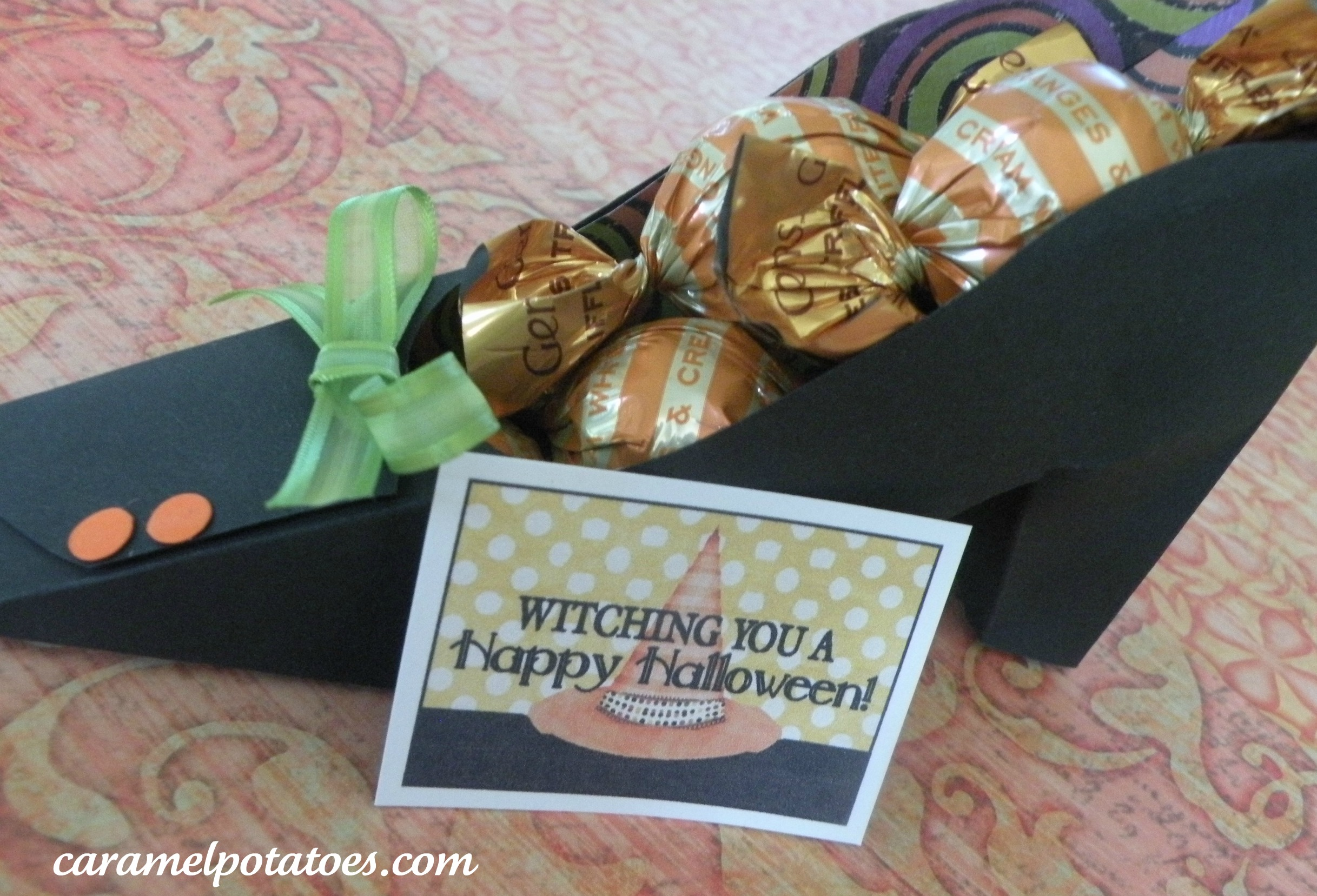 Caramel Potatoes » Printable: Witch Shoe Party Favor