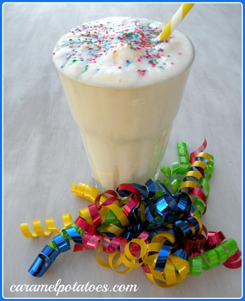 Caramel Potatoes » Birthday Cake Milkshake