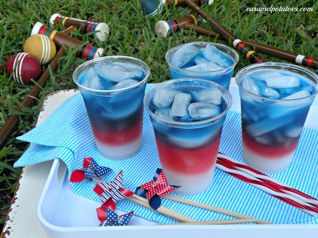 Caramel Potatoes » Layered Drinks {4th Of July Style}