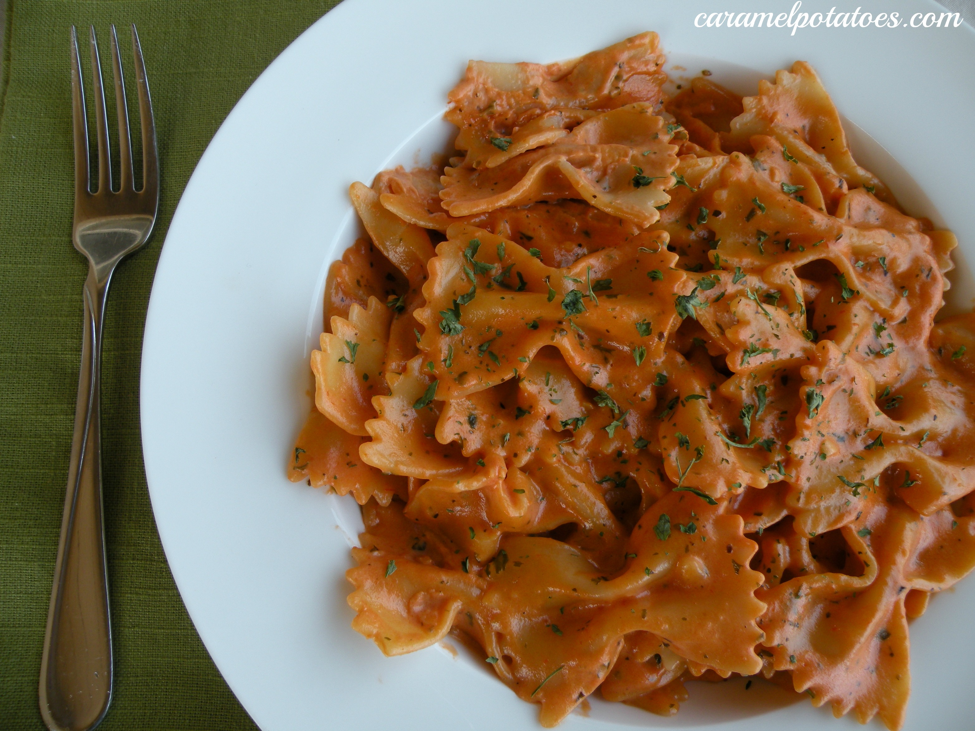 Caramel Potatoes » Pasta with a Tomato Cream Sauce