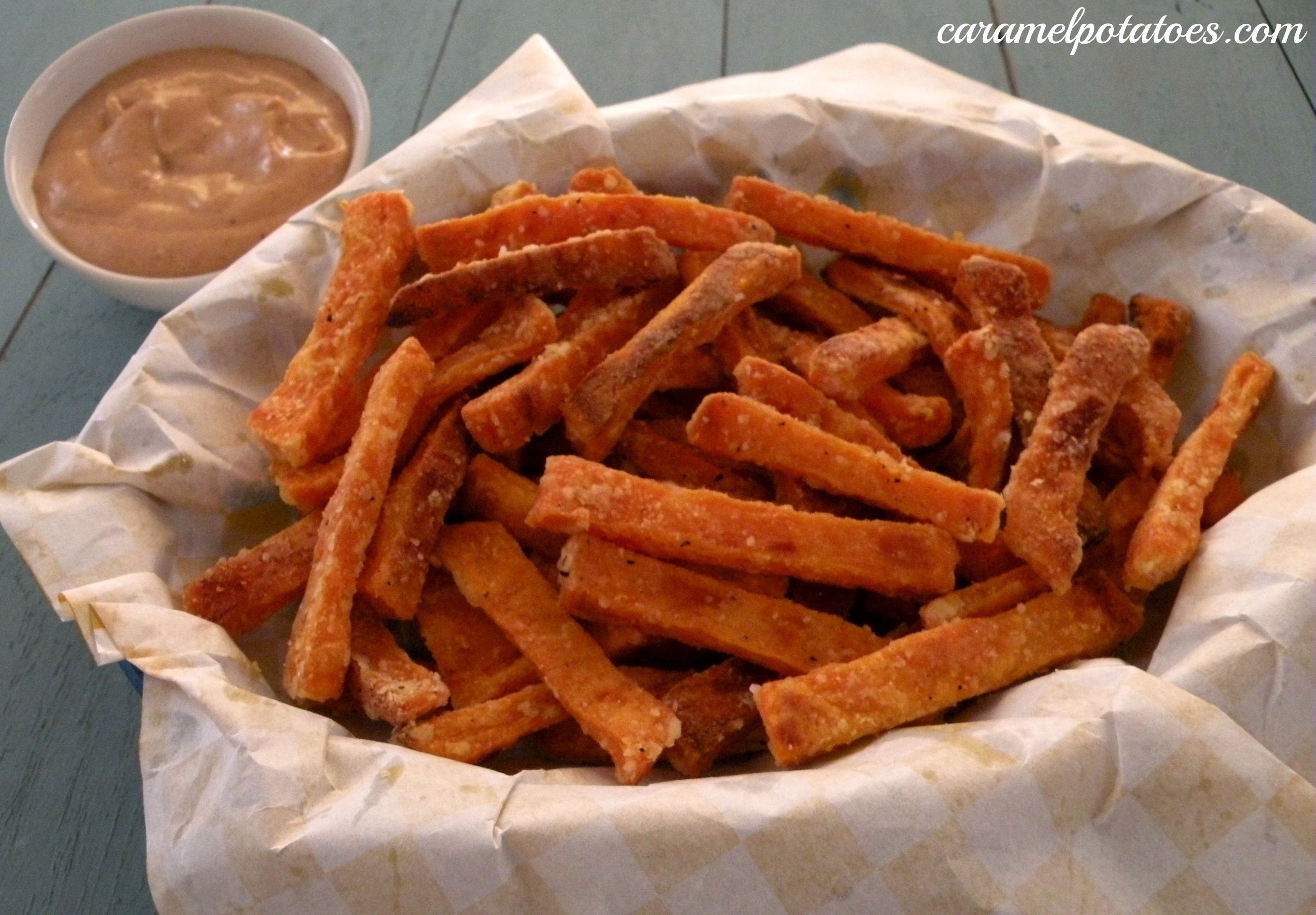 Caramel Potatoes » Oven Baked Sweet Potato Fries