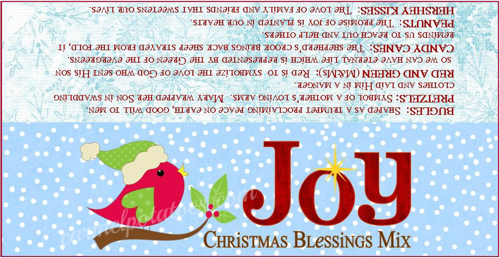 Caramel Potatoes » Christmas Blessings Mix with Printable Tags
