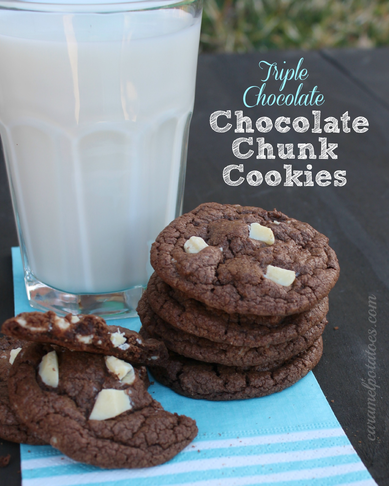 triple chocolate cookies chocolate chunk cookies chocolate chunk ...