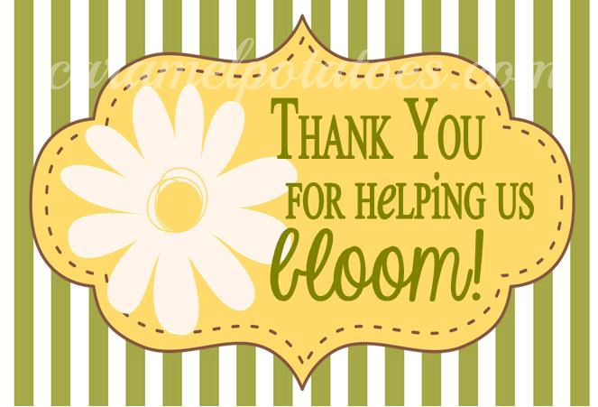 BLOOM {free} Printable for Teacher Appreciation Gifts and Mother's ...