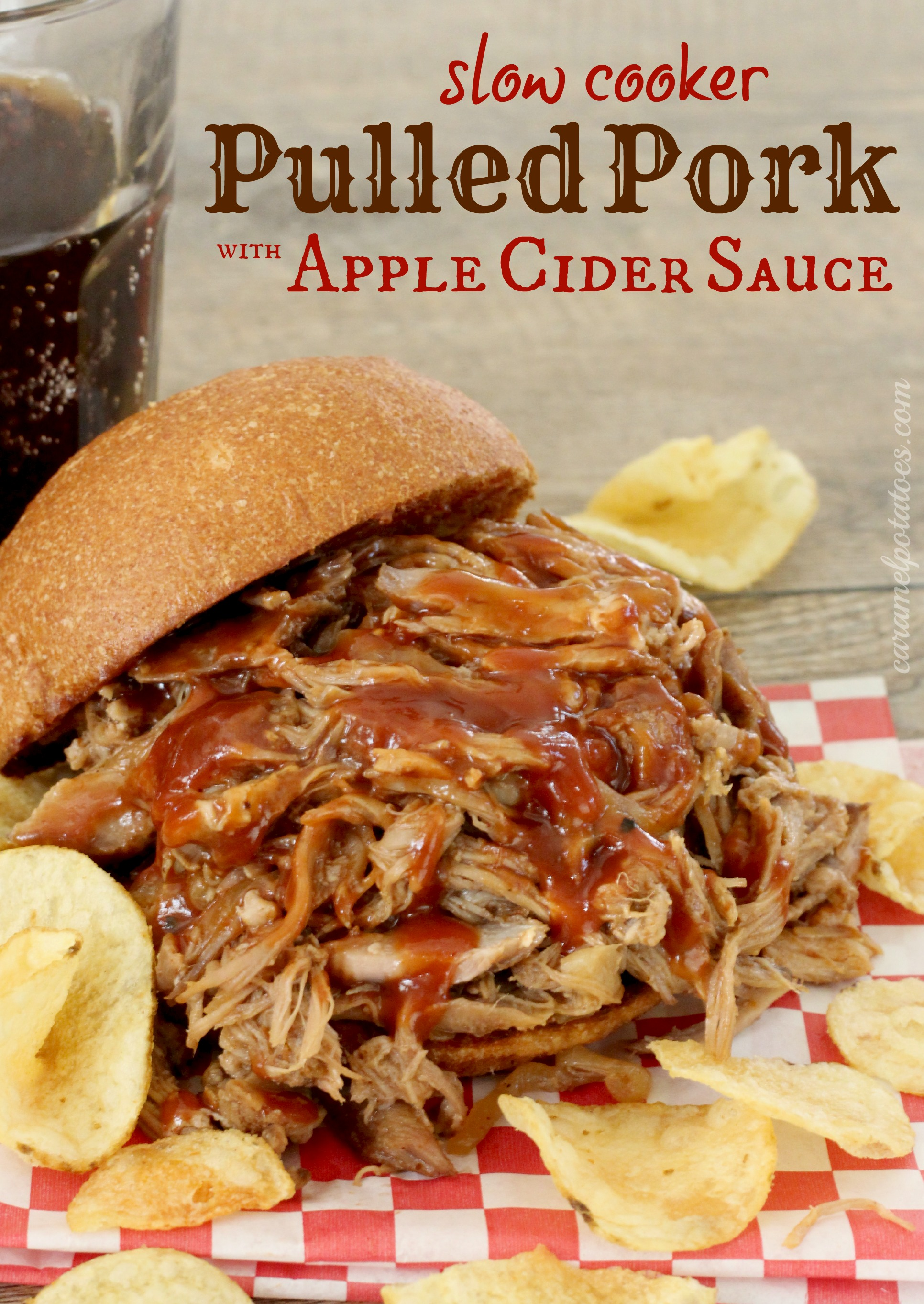 ... Potatoes » Pulled Pork with Apple Cider Sauce {slow cooker recipe