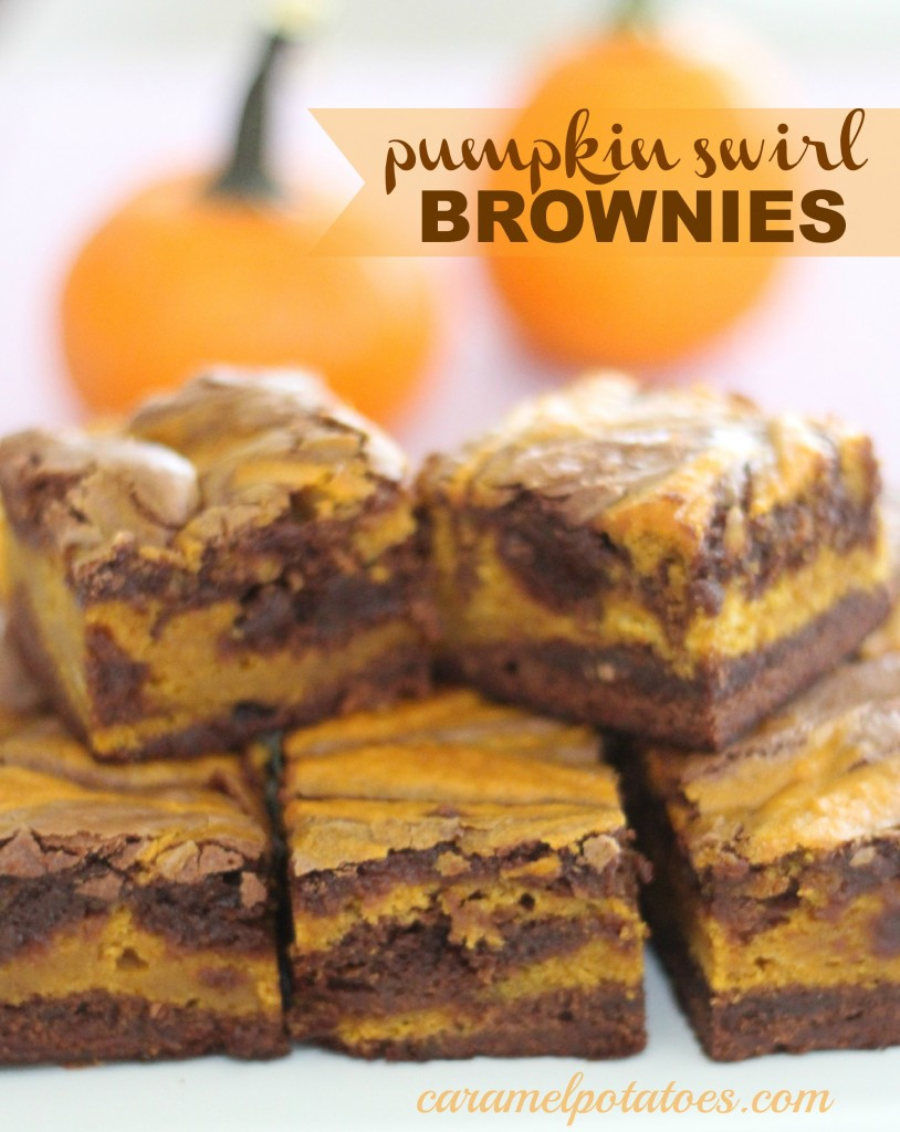 Caramel Potatoes » Pumpkin Swirl Brownies