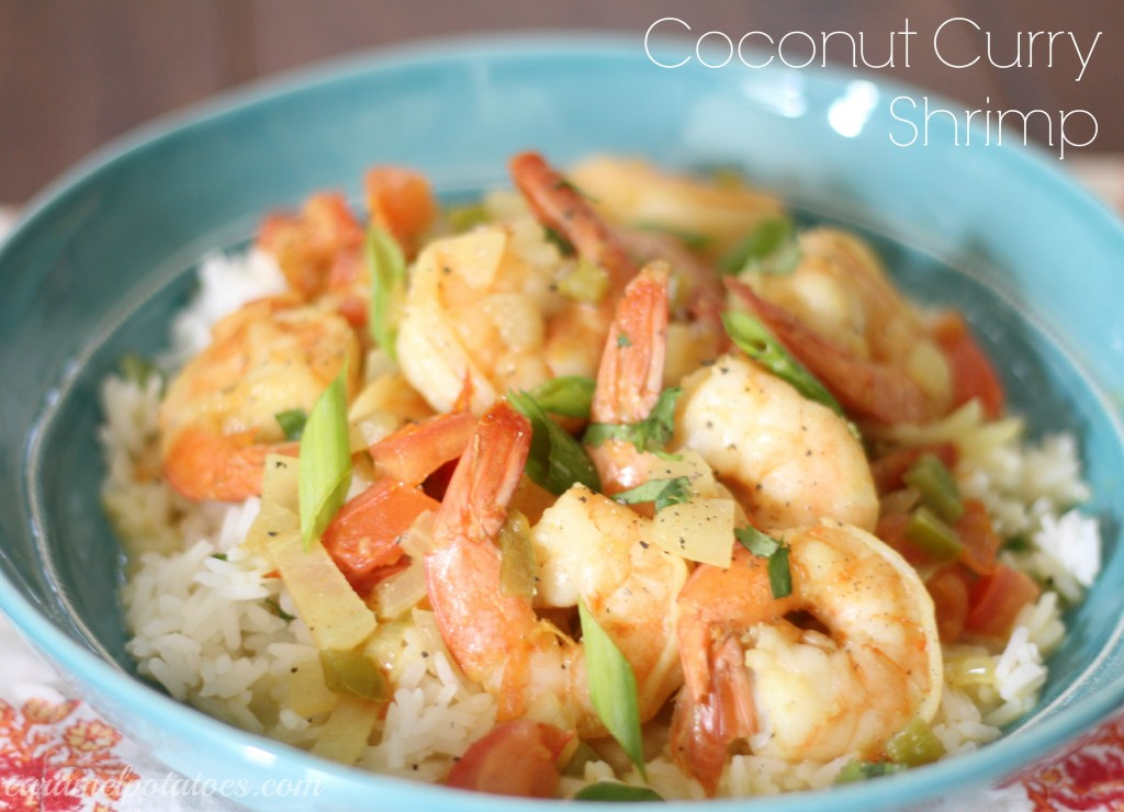 Caramel Potatoes » Coconut Curry Shrimp