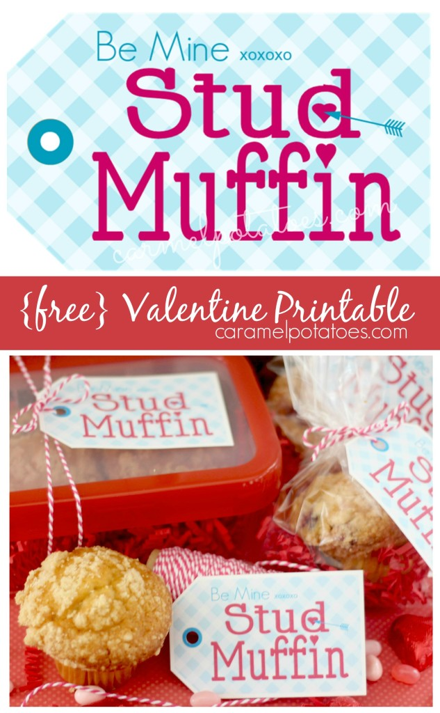 Be Mine Stud Muffin {free Valentine Printable}
