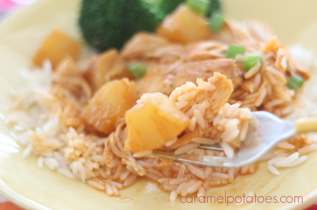 Crockpot Hawaiian BBQ Chicken