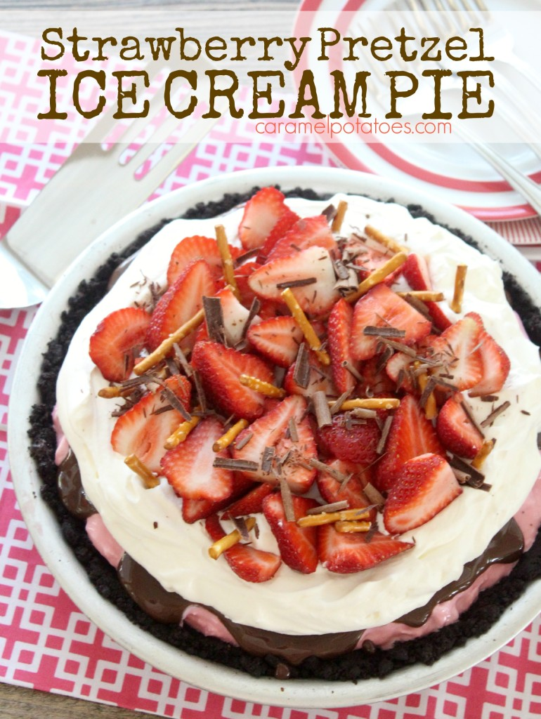 Ice Cream Pie With Easy Caramel Sauce Recipe — Dishmaps