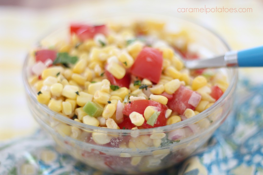 Caramel Potatoes » Sweet Corn and Tomato Salad