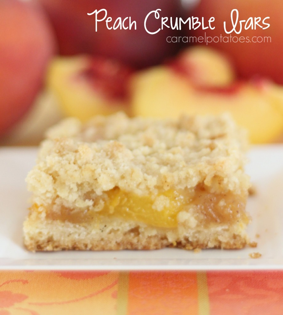 Caramel Potatoes » Peach Crumble Bars