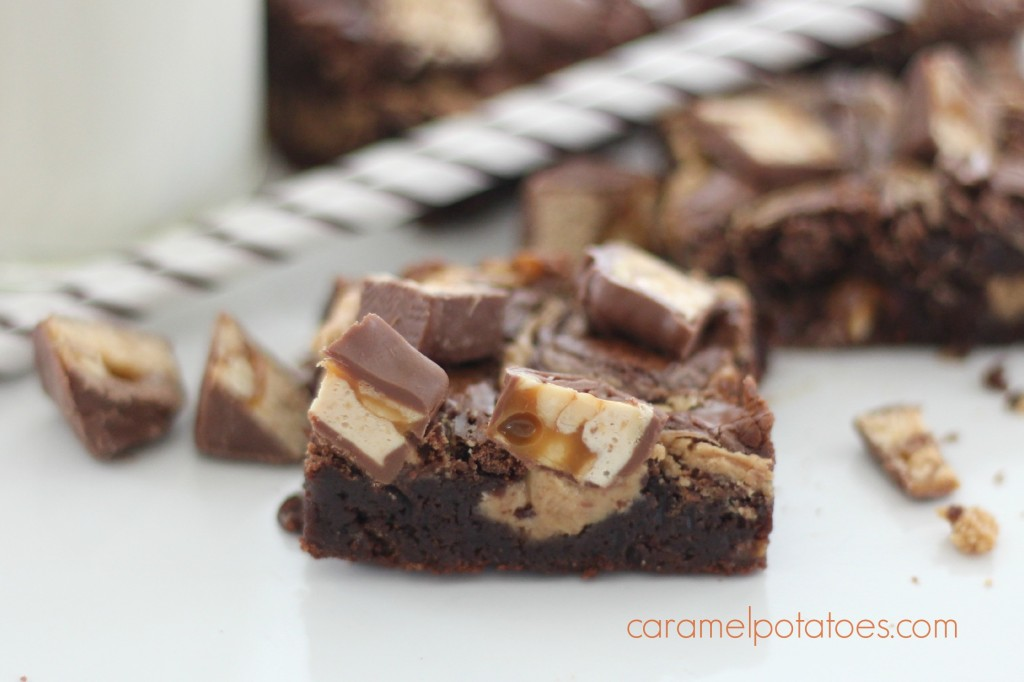 Caramel Potatoes » Peanut Butter and Snickers Brownies