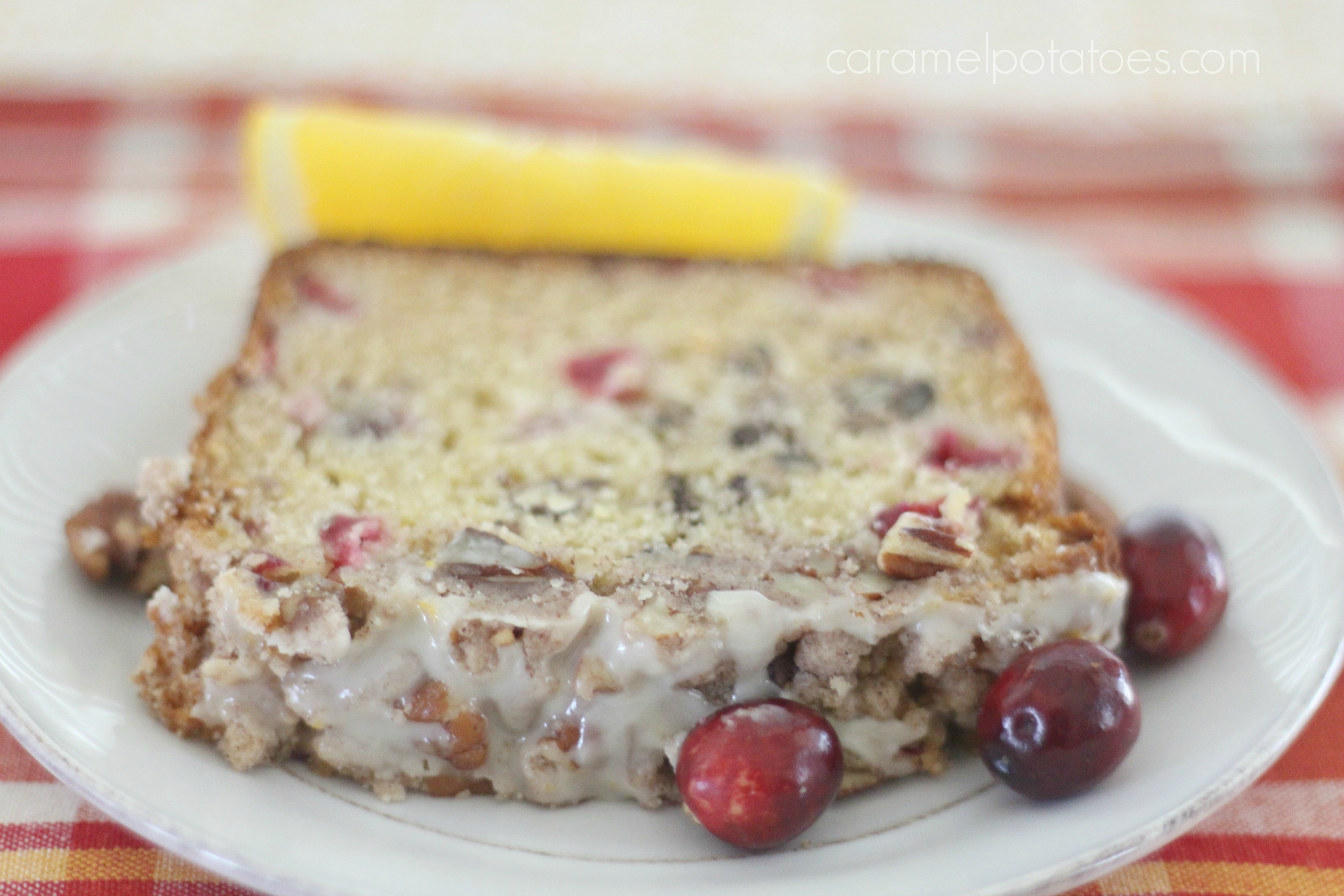 Caramel Potatoes » Cranberry Pecan Bread with Orange Glaze
